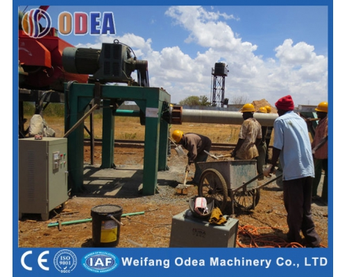 South Africa Roll Concrete pipe machine